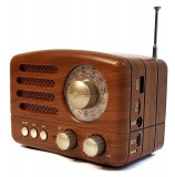 BOXA AUDIO RETRO,AMPLIFICATA,BLUETOOTH,RADIO FM,STICK,SUNET HI FI,ACUMULATOR.NOU