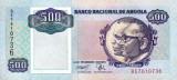 ANGOLA █ bancnota █ 500 Kwanzas █ 1991 █ P-128b █ UNC █ necirculata
