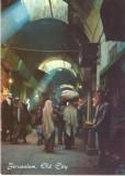 AD 1115 C. P. VECHE -IERUSALEM, OLD CITY STREET SCENE  -IERUSALIM -ISRAEL, Necirculata, Printata