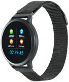 Cumpara ieftin Smartwatch Canyon SW71BB, Display LCD 1.22inch, Bluetooth, Bratara Metal, Rezistent la apa, Android/iOS (Negru)