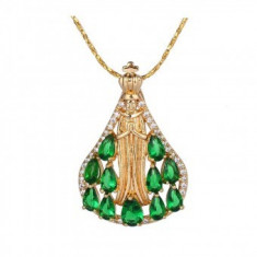 Lantisor pandantiv Divine Green Emerald
