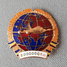 Insigna Aviatie - Pilot - Pt 8000000 km efectuati - tema merite - fruntas