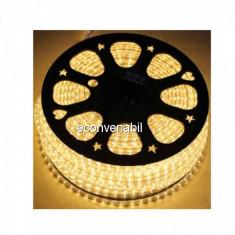 Furtun Luminos cu Banda 6000 LED 100m Culoare Alb Cald