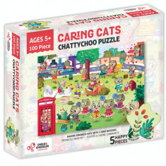 Puzzle cu surprize - Chatty Choo (100 piese) PlayLearn Toys