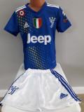 Echipament  fotbal pentru copii Juventus Ronaldo albastru marimea 128 model nou