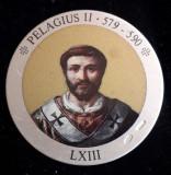 Italia Medalie Argint 925 marcat - Papa Pelagius II, Europa