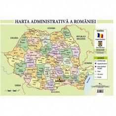 Harta Administrativa a Romaniei - Plansa A4