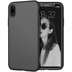Husa Apple iPhone X, FullBody Elegance Luxury Negru, acoperire completa 360..., MyStyle