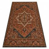 Covor de lână KASHQAI 4354 501 rozetta, oriental teracotă, 67x130 cm, Dreptunghi, Lana