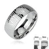 Inel din oțel inoxidabil - model zebră - Marime inel: 67