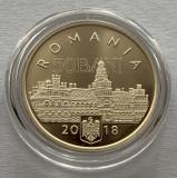 50 Bani 2018 PROOF in capsula-100 Ani de la unirea Bucovinei cu Romania, Alama