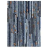 Covor petice jeans 120x170 cm Albastru denim