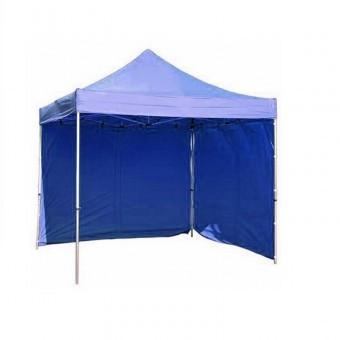 Pavilion gradina, albastru Strend Pro Festival, evantai, 2 pereti laterali, 300 x 300 cm, profesional foto
