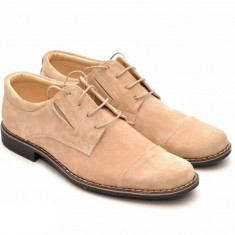 Pantofi barbati casual - eleganti din piele naturala intoarsa - PAVELBEJ
