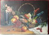Natura statica, pictura in ulei pe carton 68 x 49 cm, dimensiuni mari
