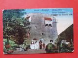 Carte postala veche BRASOV La Turnul Alb × 1924 timbru deslipit, Circulata, Printata