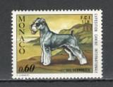 MONACO 1974 - CAINE RASA SCHNAUZER, timbru MNH, S6, Nestampilat