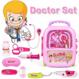 Set doctor, trusa medic jucarie cu gentuta troler - Rosu, Oem