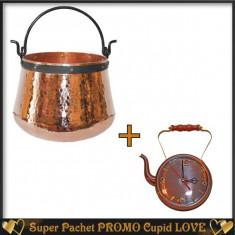 Pachet Ceaun Traditional 100 Litri +Ceas Antichizat Ceainic