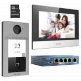 KIT videointerfon pentru o familie'Wi-Fi 2.4Ghz'monitor 7 inch - HIKVISION DS-KIS604-S SafetyGuard Surveillance