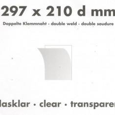 Posete filatelice ptr. colite/coli,spatele transparent 297x210 mm. 5 buc./set