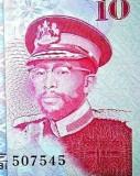 1981 (Moshoeshoe II bust militar) --> Lesotho 10 Maloti bancnota UNC