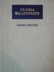 Teoria relativitatii  / Albert Einstein foto