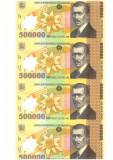 SV * Romania   BNR   COALA NETAIATA  4 x 500000  LEI 2000     UNC  +  certificat