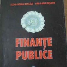 FINANTE PUBLICE - ELENA-DOINA DASCALU, DAN RADU RUSANU