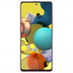 Telefon mobil Samsung Galaxy A51 6.5 inch 5G Octa Core 6GB 128GB Baterie 4500mAh Dual Sim Prism Crush Pink