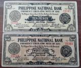 FILIPINE LOT - 10 + 20 Pesos 1941 - Provincia Cebu - OCUPATIE JAPONEZA