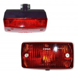 Lampa auto BestAutoVest pentru ceata rosie 12/24V 140x75mm bec tip P21W fara cablaj , 1 buc.