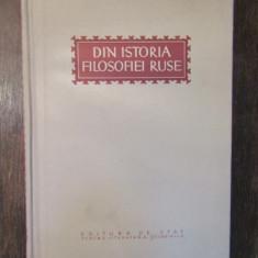 DIN ISTORIA FILOSOFIEI RUSE. CULEGERE DE STUDII ,1953