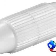 Conector extensie cablu coaxial, plastic, Goobay