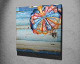 Tablou decorativ, Vega, Canvas 100 procente, lemn 100 procente, 45 x 45 cm, 265VGA1070, Multicolor
