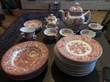 Set de farfurii,ceainic,cani,zaharnita,englezesc Westminster