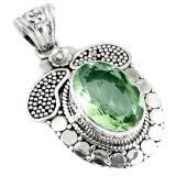 Cumpara ieftin Pandantiv bijuterie din argint 925 cu ametist verde