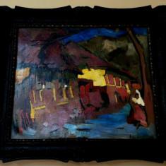 Tablou autentic Nagy Oszkar, Peisaje, Ulei, Impresionism