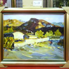 Tablou pictat manual pe panza in ulei A-155, Natura, Realism