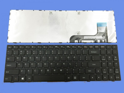 Tastatura laptop Lenovo IdeaPad 100-15iby 80MJ 100-15 noua neagra US foto
