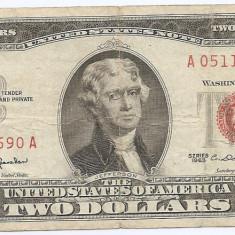 Statele Unite (SUA) 2 Dolari 1963 - (Serie Red-05114690) P-382