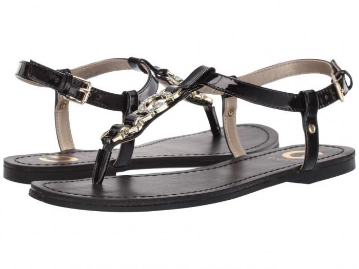 Sandale dama G by Guess Lexann- alb, negru, 100% original