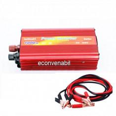 Invertor Auto 24V la 220V si USB 1000W Constant Max.665W Clesti