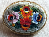 Brosa vintage - confectionata manuala mozaic