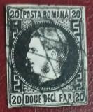 Timbre 1867 Carol I cu favoriţi 20 parale