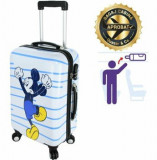 Cumpara ieftin Troler cabina Disney, 50 x 34 x 21 cm, geamantan Love Mickey, alb-albastru