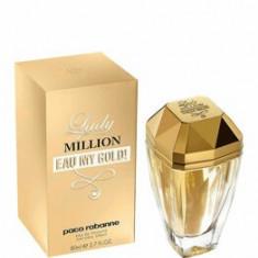 Apa de toaleta Paco Rabanne Lady Million Eau My Gold!, 80 ml, pentru femei