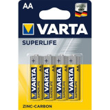 Baterii zinc carbon Varta Superlife AA , LR06 4 Baterii / Set