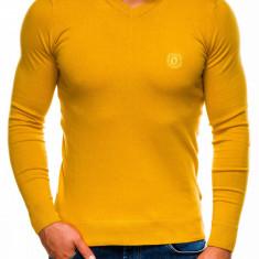 Bluza pentru barbati, din bumbac, galben, casual slim fit - E74