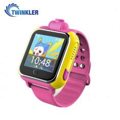 Ceas Smartwatch Pentru Copii Twinkler TKY-Q200 cu Functie Telefon, Localizare GPS, Camera, 3G, Pedometru, SOS - Roz
